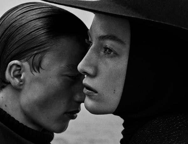 Lou Schoof and Nils Schoof of agency Placemodels in a collaboration for the VOGUE UKRAINE November 2015 edition.