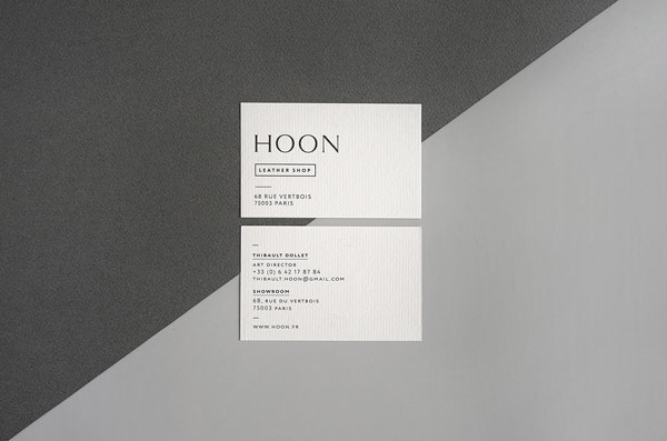 The business cards with front and backside design.