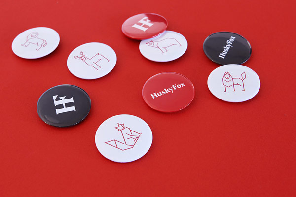 Some buttons with logos and icons.