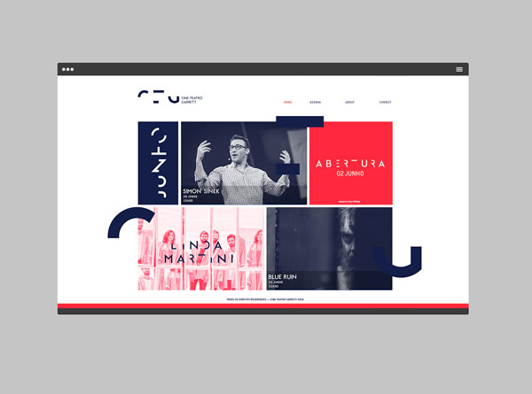The team of MAAN Design Studio also developed a new website for the theater.