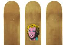 Andy Warhol – Gold Marilyn Monroe skateboard decks.