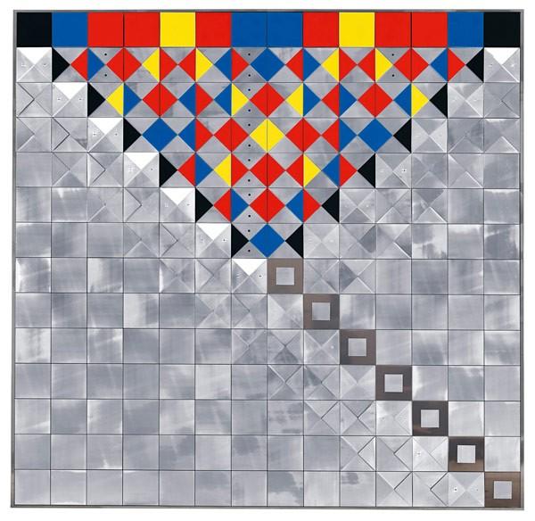 Heinz Mack (born in Lollar, Hessen in 1931) Relief mit farbigem Plexiglas