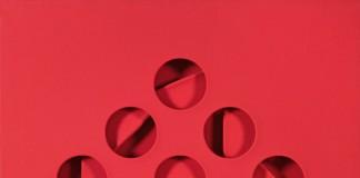 Paolo Scheggi (Florence 1940 - 1971 Rome ) Intersuperficie curva rossa, 1967