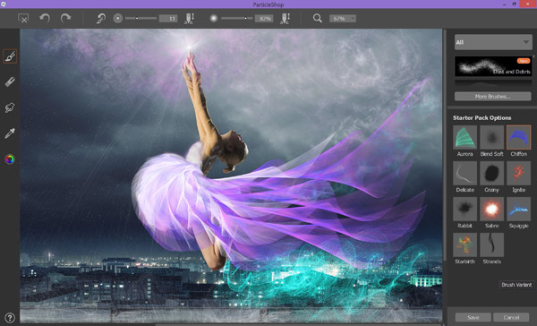 Corel Painter's ParticleShop Plug-in for Adobe Photoshop