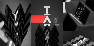The TĀTOU. visual identity is based on a vertical logotype on black background.