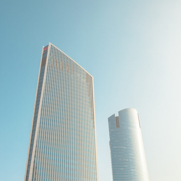 Two skyscrapers side by side.