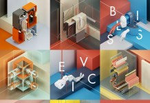 Abstracts, a series of compositions of abstract sculptures in an isometric environment.