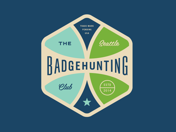 Badgehunting Clubs, a graphic design and illustration series by Allan Peters.