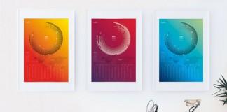 Calendar 2016 in three color versions by Bureau Oberhaeuser.