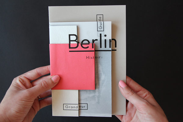 creative photo booklet about berlin by camille palandjian