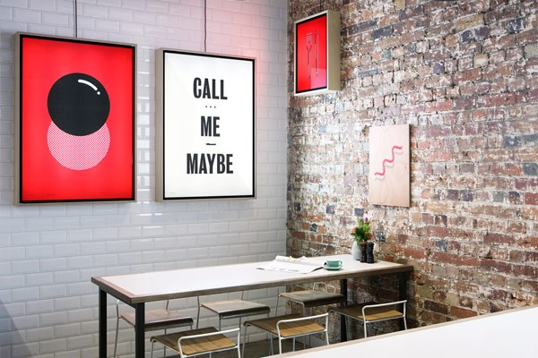 operator 25 cafe branding graphic design print design by pop
