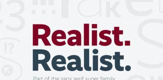 Realist, a straightforward sans serif typeface designed by Martin Wenzel.