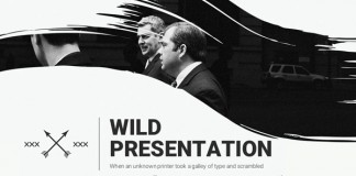 The Wild Powerpoint Presentation template.