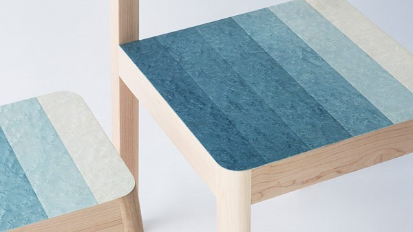 The Osaka, Japan based product, industrial, and furniture designer has created the Decresc seating series for a material design exhibition held in Material Connexion Tokyo during Tokyo Design Week.
