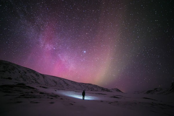 The images were taken in March 2015 in the Arctic Lapland wilderness of Finland. This image is part of the best photography 2015 collection.