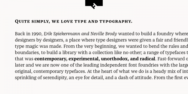 A text sample of this beautiful serif family.