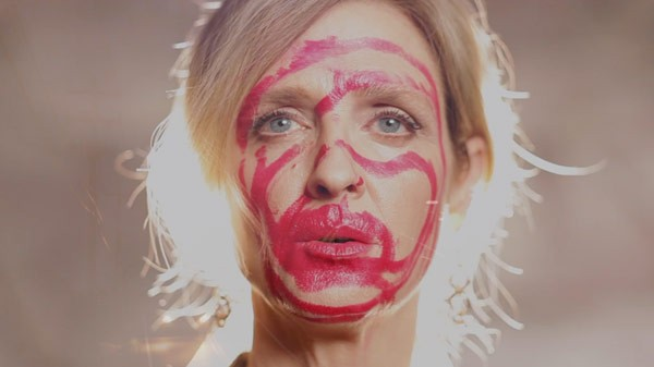Another still from the Time Flies video by writer and performance artist Minton Sparks.