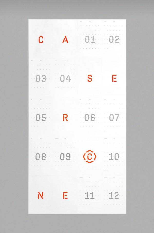 Calendar Typography : Calendar design by caserne