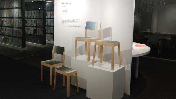 The Decresc seating design series as exhibits at a design fair.