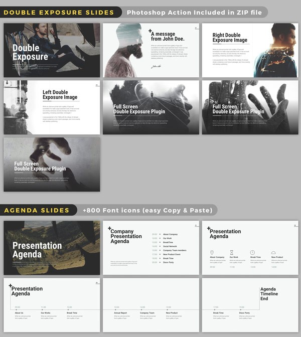 Wild powerpoint presentation templates double exposure effects with adobe photoshop actions are included in zip files toneelgroepblik Image collections