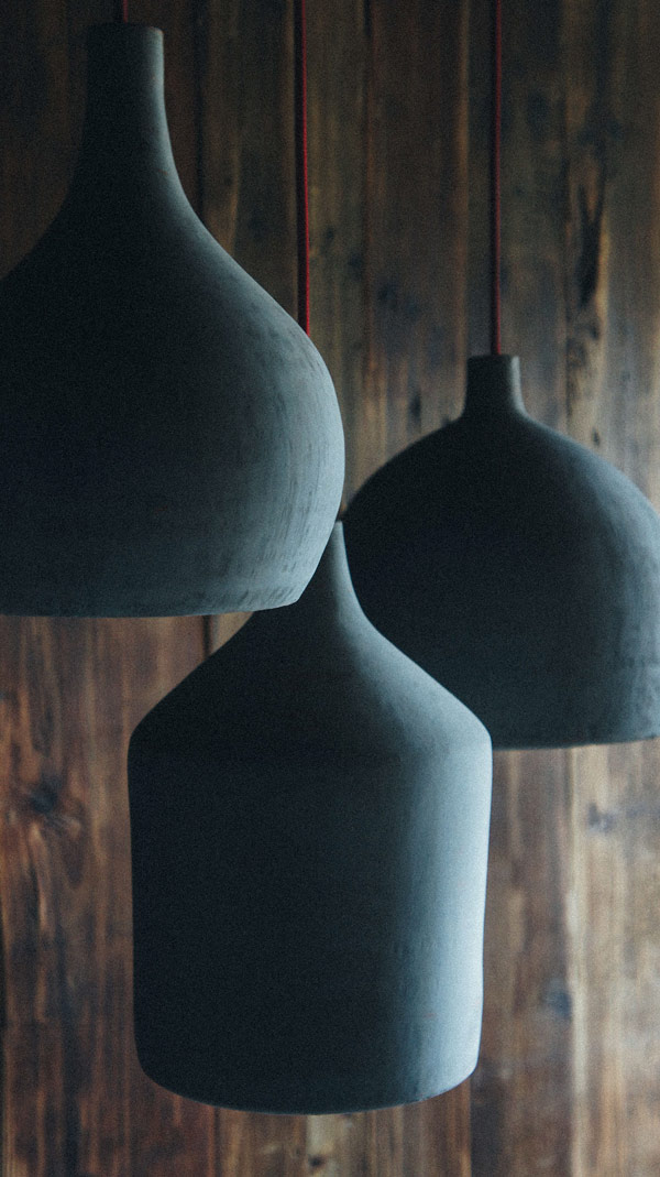 Hormigón, concrete pendant lamps created by Luis Luna for Namuh.
