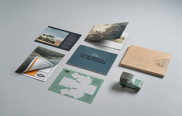 Communication design by FP Creative that celebrates the legendary Land Rover Defender.