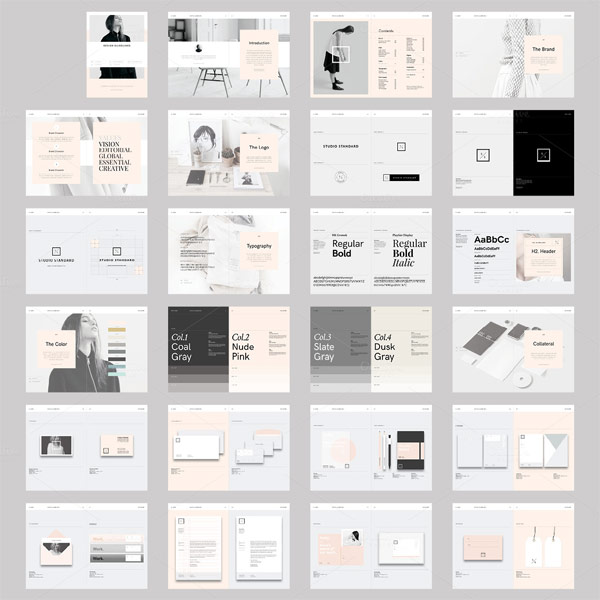 studio branding guidelines template for adobe indesign. Black Bedroom Furniture Sets. Home Design Ideas