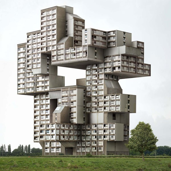 Surreal manipulated architecture photography by Belgian artist Filip Dujardin.