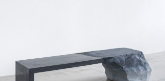 A glaciers and rocks inspired bench by Fernando Mastrangelo.
