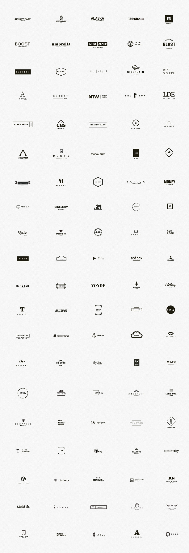 100 Minimal Logos – Premium Template Kit