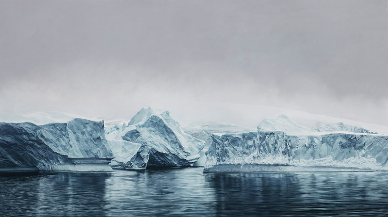 1 deception island antarctica %e2%80%93 drawing by zaria forman from 2015 in the size of 72x128