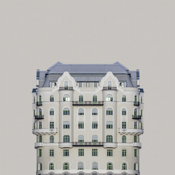 """First image of the minimalist photo series """"Urban Symmetry"""" by Zsolt Hlinka."""