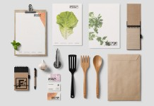 Food Lab Studio identity design by LANGE & LANGE.