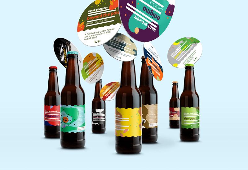 Kent Brewery Beer Labels Redesign by Jan Baca