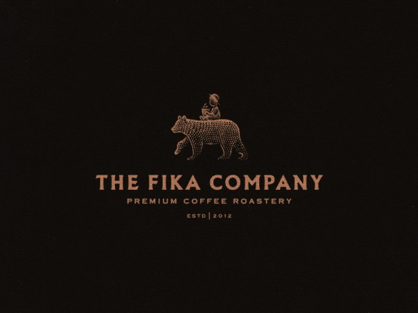 Logo design by Joe White for the Fika Company, a premium coffee roastery.