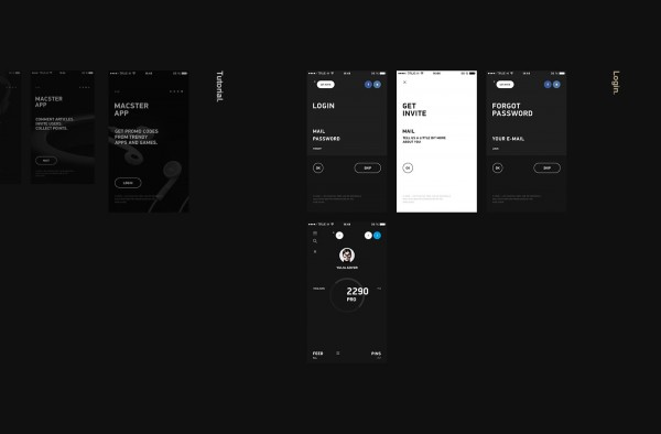 Macster App – new mobile app design by m—2—h, a Russian design collective specializing in unique digital experiences and branding solutions.