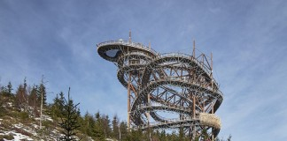 The Dolni Morava Sky Walk in the in the Czech mountains.