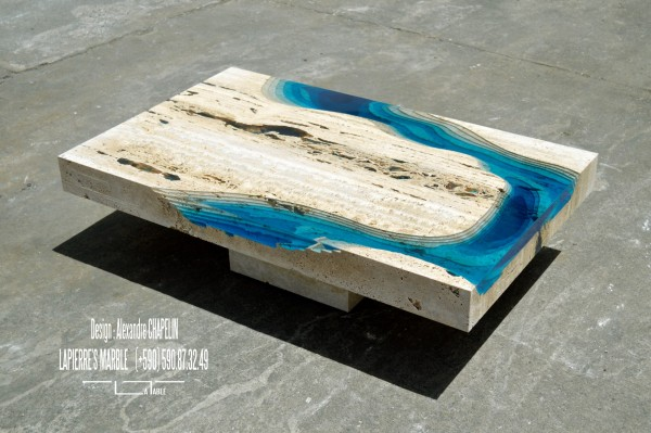 The LAGOON model by Alexandre Chapelin is a unique coffee table.