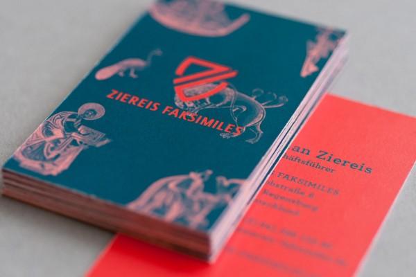 Ziereis Faksimiles - visual identity design by Zeichen & Wunder.