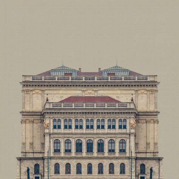 """The series """"Urban Symmetry"""" includes 11 photos of different buildings that look like paintings."""