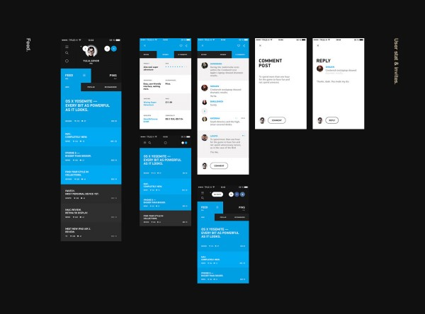 The creative team has created a complete new ux/ui design. The interface is based on 3 colors consisting of black, white, and cyan.