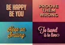 The full set consists of 10 super stylish retro text effects for Adobe Photoshop.