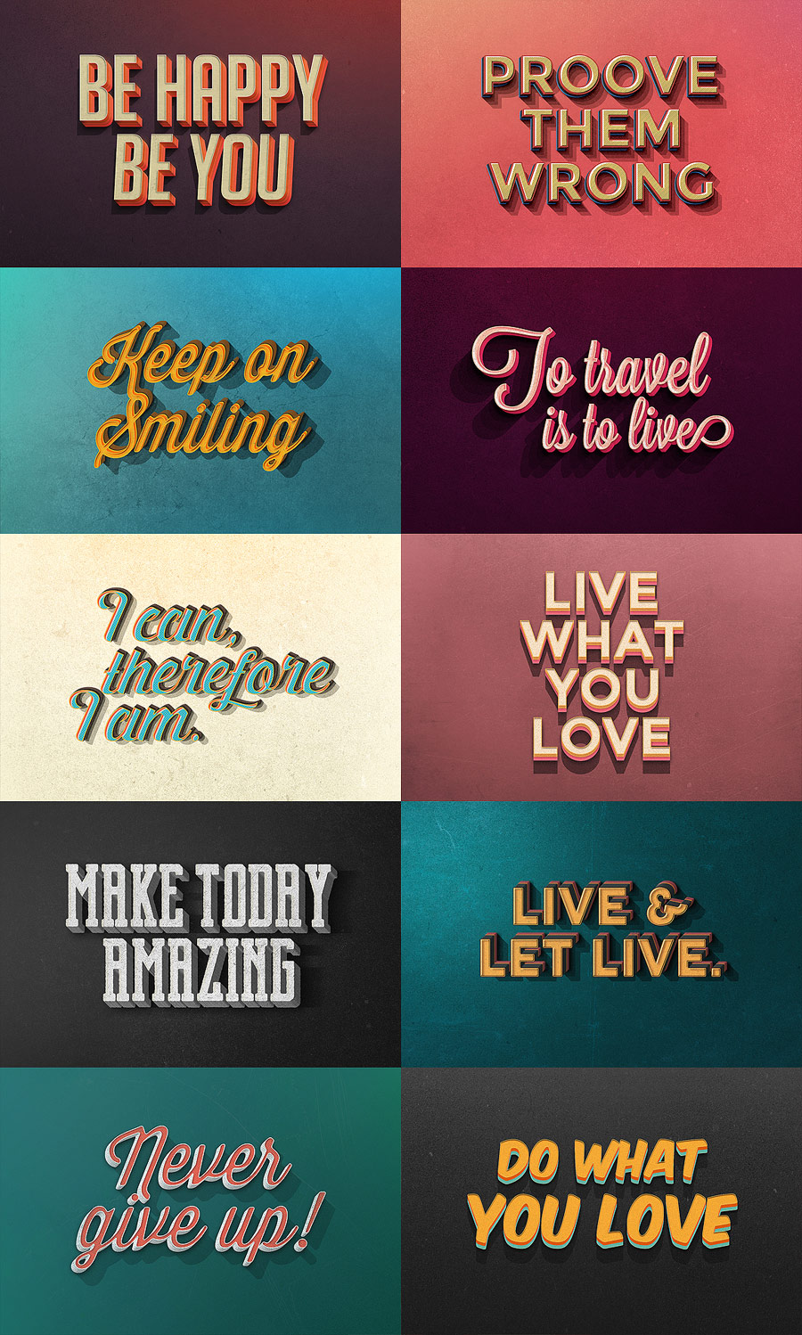 Vintage Text Effects for Adobe Photoshop