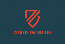 Version one of the Ziereis Faksimiles logo.