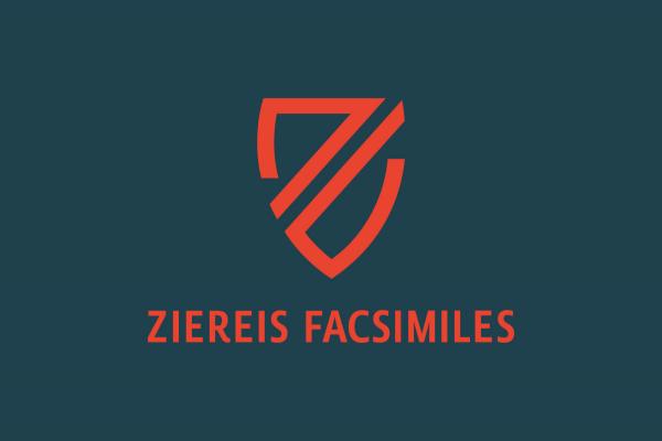 Version one of the Ziereis Faksimiles logo.
