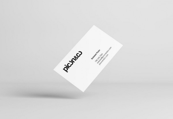 Like all branding materials, the business cards are based on a simple black and white look.
