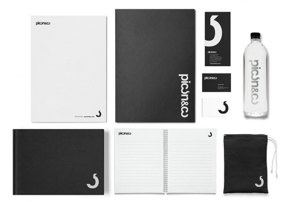 A collection of stationery and branding materials.