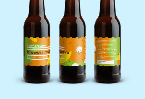 A detailed view of the new label design.