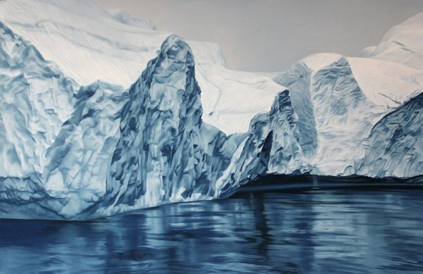 Greenland no. 55, artwork from 2013 with soft pastel on paper.