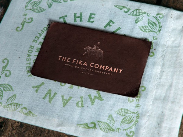 The entire brand identity is based on a rustic vintage look.